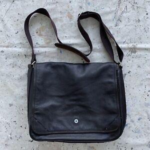 Brown Leather Cole Haan Messenger Bag