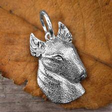 Sterling Silver BULL TERRIER DOG Pendant or Charm