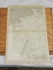 1819 Antique Map//GERMANY WEST