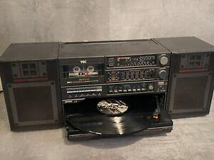 TEC 811 RR Ghettoblaster 80er Vintage Recorder mit Plattenspieler Lade und Tape