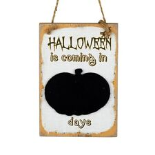 Days Until Halloween Countdown Chalkboard  Sign Decorations Wall Door Decoration