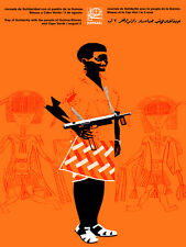 "11x14""Political World Solidarity Socialist Poster CANVAS.Africa woman.6241"