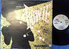 DAVID BOWIE - MAXI SINGLE 45 rpm -BAILEMOS - LET´ DANCE - SPAIN 1983 (RARE)