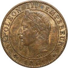 O6702 1 centime Napoléon III Laurée 1861 A Paris SPL RED LUSTER
