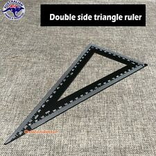 250 x 300 Triangle Square Ruler Metal Double Side Black Painted Triangle Ruler