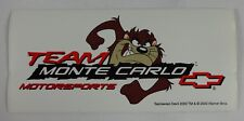 Team Monte Carlo Tasmanian Devil Decal Sticker Chevrolet Bow Tie Indy 500 Nascar