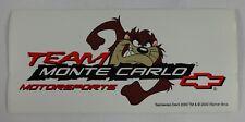 Team Monte Carlo Tasmanian Devil Decal Sticker Chevrolet Bow Tie Indy 500 Nascar