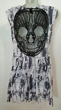 HOT TOPIC LACE SKULL Back  Tie Dye Goth Biker Dress