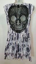 HOT TOPIC LACE SKULL Back  Tie Dye Goth Biker Dress
