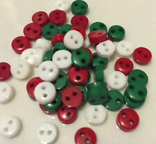 Christmas Theme/ Unbranded Plastic Craft Buttons