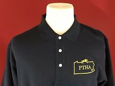 DEVON & JONES 100% Pima Cotton Navy Blue Golf Polo Shirt size Large PTHA