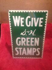 1956 S&H GREEN STAMP DOUBLE SIDED SERVICE STATION SIGN MOBIL STANDARD OIL