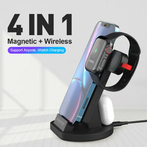 4 in 1 Wireless + Magnetic Charger Dock Charging Station For iPhone 13 13Pro max