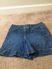 Gloria Vanderbilt Women's Blue Denim Jean Shorts Sz 8