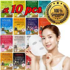 10pcs Malie Korean Face Mask Sheet Pack Facial Mask Moisture Skin Care K-Beauty