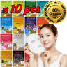 10pcs Malie Korean Face Mask Sheet Pack Facial Mask Moisture Skin Care K-Beauty