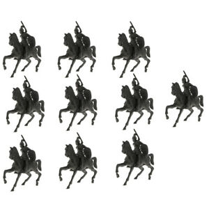 10PCS Military Log House Model Toys Soldiers & Horse Army