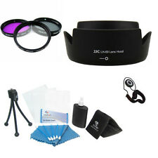 Set of  3 Filters + HB-69 Lens Hood  For Nikon AF-S DX 18-55mm F 3.5 G VR II +