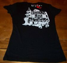 WOMEN'S TEEN EMILY THE STRANGE Haunted House T-shirt MEDIUM NEW w/ TAG