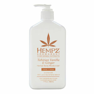Hempz Tahitian Vanilla Ginger Herbal Body Moisturizer 17.0 oz Brand New