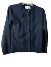 Izod Girls Size XL (16) Approved Schoolwear Navy Button Up Sweater NWOT