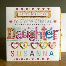 Daughter in law birthday card personalised Daughter BIRTHDAY