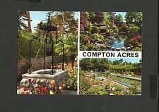 John Hinde Multi View Colour Postcard  Compton Acres Close to Poole  Posted