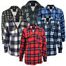 Men's Padded Work Shirts Quilted Fleece Lumberjack Shirt Top Coats Jackets M-XXL