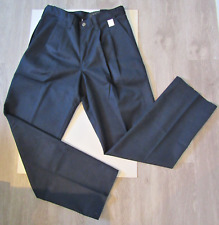Mens Dickies Occupational Wear Pleated Navy Work Pants 32UL 30UL NEW