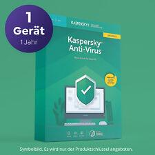 Kaspersky Anti Virus 2020 2021 für 1 PC 1 JAHR Vollversion per EMAIL SOFORT