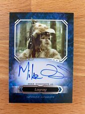 TOPPS Star Wars MasterWork 2016 Mike Edmonds as Logray Autograph Auto
