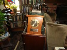 Vintage Brass Ship's plaque Royal Mariner Boat Maritime Clock – Heavy Clock-WOW
