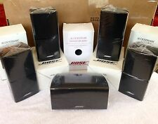 5 Bose Speakers [1 Center Channel+4 Surround] Double Cube Acoustimass Lifestyle