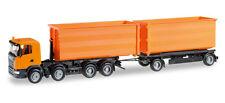 Herpa 306041 H0 LKW Scania R Abrollmulden Hängerzug