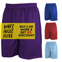 MEN'S CASUAL MESH SHORTS 2 POCKETS BASKETBALL GYM SHORTS WORKOUT FITNESS HIP-HOP