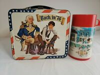 VINTAGE BACK IN '76 LUNCHBOX AND THERMOS