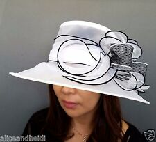 Women Kentucky Derby Church Bowtie Design Sunday Dress Medium Brim Hat