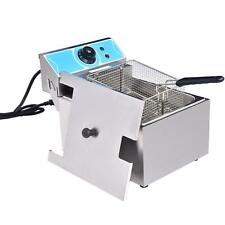 10l Commercial Electric Deep Fryer Fat Chip Single Tank Stainless Steel 3000w