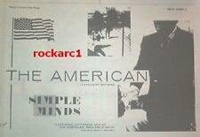 SIMPLE MINDS The American 1981 UK Press ADVERT 12x8 inches