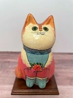 House of Hull Catz Style Female Feline Ceramic Figurine / Vintage Lady Cat
