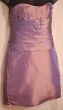 women's Jordan strapless purple fitted bridesmaid dress size 10 MSRP $500 new