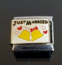 Just Married Italian Charm Bracelet Charms Link Classic