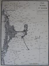 PLAN DU PORT D'ALGER ,1862, GAUTTIER, PLANS PORTS RADES MER MEDITERRANEE