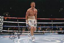 """Anthony """"milioni di dolla"""" CROLLA mano firmato BOXE 12x8 FOTO campione mondiale 2."""