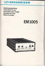 Sennheiser EM 1005 Bedienungsanleitung in 5 Sprachen Nr.B.8
