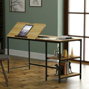55'' Drawing Table with Adjustable Tabletop Office Desk
