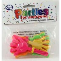 TOY HAND CLAPPERS PACK OF 4 PARTY LOOT BAG FILLER TOY GIFT PINATA FILLER