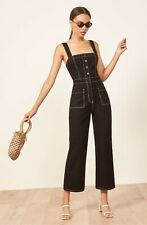 48d17236c5c6 REFORMATION Black White Square Amory Contrast Stitching Wide Leg Jumpsuit 0  XS