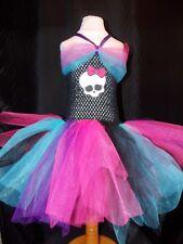 Chicas Monster High Vestido Tutú Inspirado Halloween Disfraz Hecho a Mano #