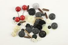 Vintage Sewing Lot Variety Estate Buttons Lucite Celluloid Red Ball Plastic